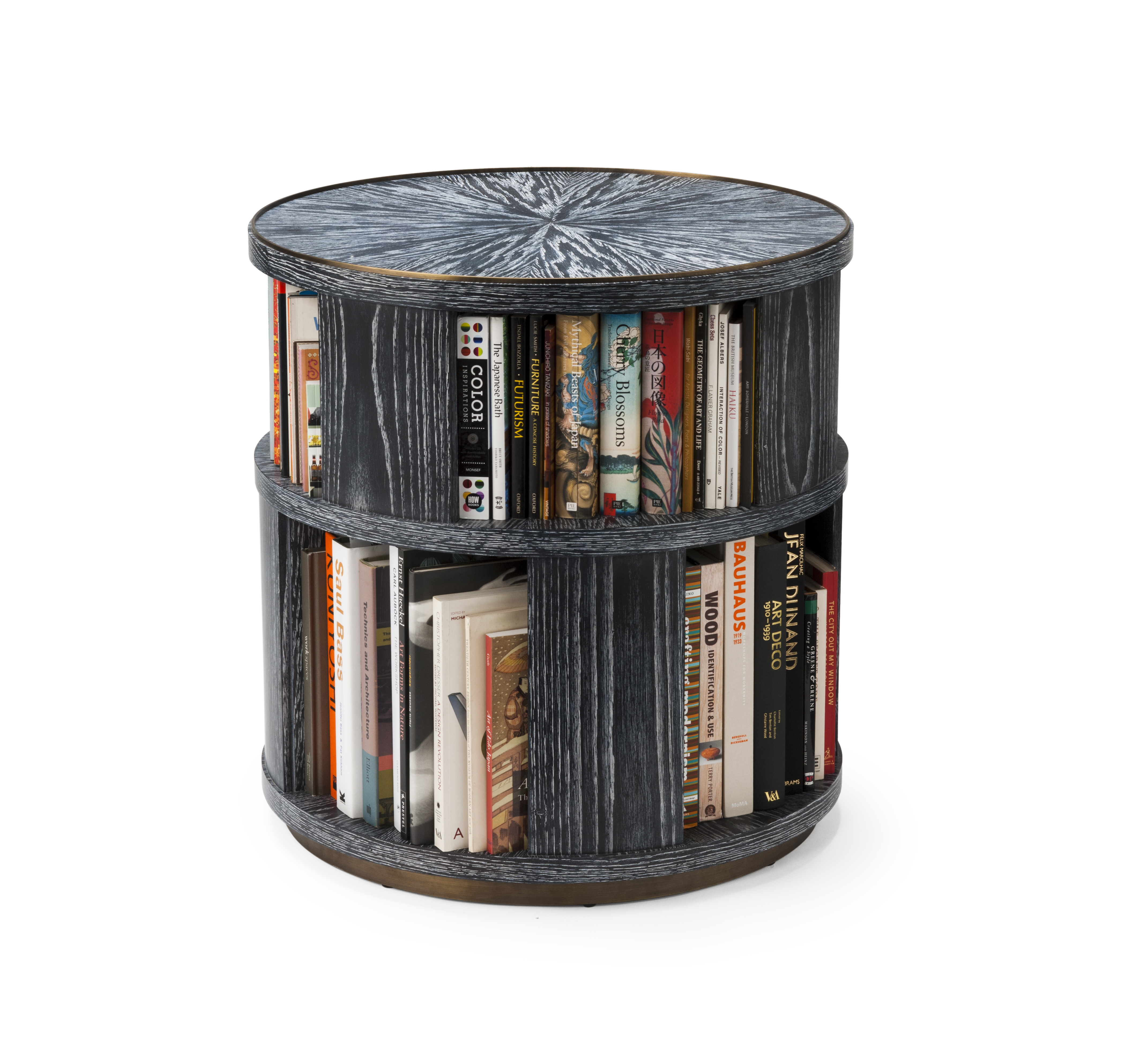 garden two today bookcase tower shipping overstock free sided product rotating black spinning home