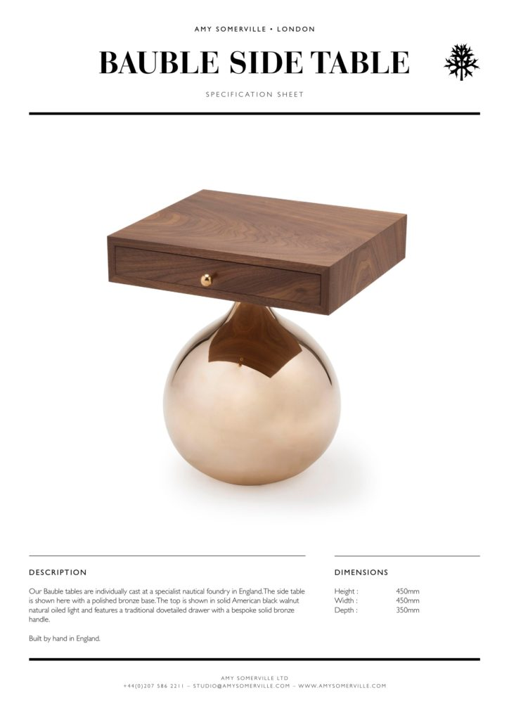 Bauble Side Table Amy Somerville London